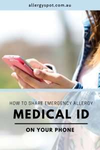 How to share emergency allergy medical ID on your phone