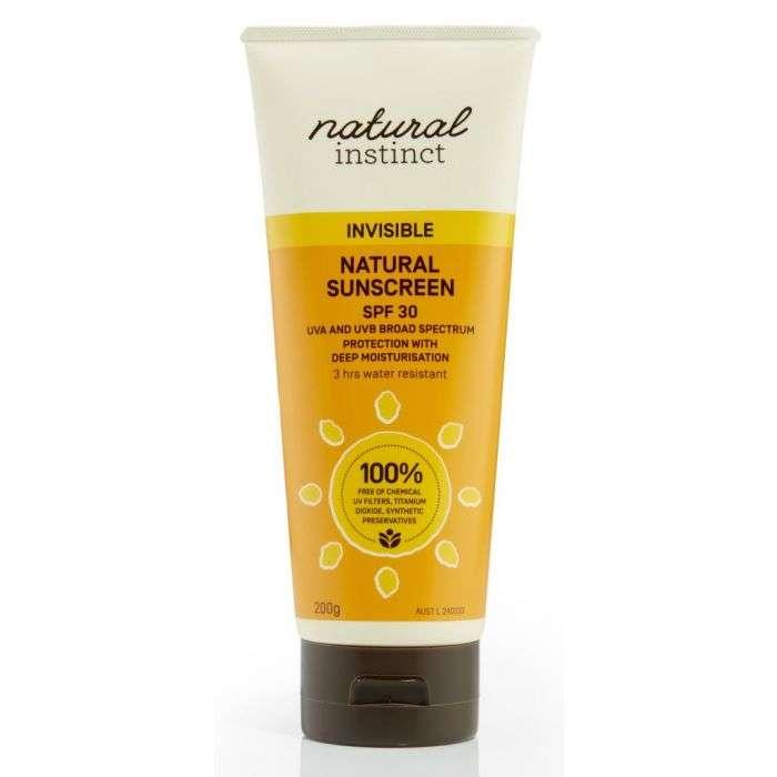 Natural Instinct Natural Sunscreen for sensitive skin, eczema and allergies