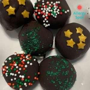 Christmas Oreo truffles made dairy, egg and nut free