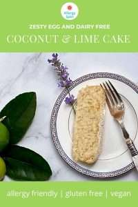 Zesty egg and dairy free coconut and lime cake